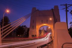 Walter Taylor Bridge em Brisbane imagens de stock
