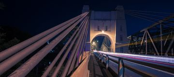 Walter Taylor Bridge i Brisbane arkivbild