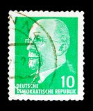 Walter Ulbricht, Chairman of the State Council Walter Ulbricht s. MOSCOW, RUSSIA - MAY 15, 2018: A stamp printed in German Democratic Republic shows Walter Royalty Free Stock Photography