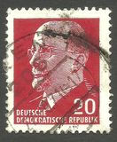 Walter Ulbricht. German Democratic Republic - stamp printed in1969, Heads of State, Series Chairman of the State Council Walter Ulbricht Stock Photography