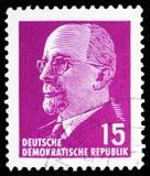 Walter Ulbricht, presidente do serie de Walter Ulbricht do Conselho Estatal, cerca de 1967 imagem de stock