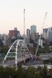 Walterdale Bridge Construction royalty free stock photos
