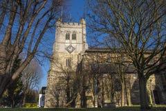 Waltham修道院教会 免版税图库摄影