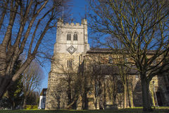Waltham Abbey Church. A view of the historic Waltham Abbey Church in Waltham Abbey, Essex. King Harold II who died at the Battle of Hastings in 1066 is said to Royalty Free Stock Photography