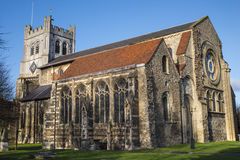 Waltham Abbey Church. A view of the historic Waltham Abbey Church in Waltham Abbey, Essex.  King Harold II who died at the Battle of Hastings in 1066 is said to Royalty Free Stock Photo