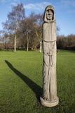 Waltham Abbey Oak Sculpture Imagenes de archivo