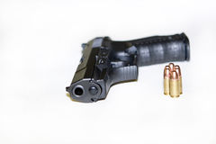 Walther and bullets Royalty Free Stock Images