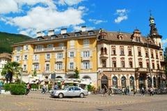 Walther Square in Bolzano (Bozen), Italië Royalty-vrije Stock Fotografie