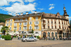 Walther Square in Bolzano (Bozen), Italy Royalty Free Stock Photography