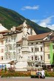 Walther Square en Bolzano (Bozen), Italia Fotos de archivo libres de regalías