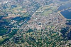 Walton en Támesis, visión aérea Imágenes de archivo libres de regalías