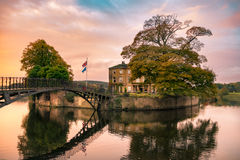 Walton Hall in a scenic setting of rolling parkland with its own Stock Photo