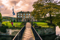 Walton Hall in a scenic setting of rolling parkland with its own. Wakefield, United Kingdom - October 20, 2016: Walton Hall, a 4 star hotel in a scenic setting Stock Photos