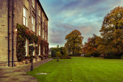 Walton Hall in a scenic setting of rolling parkland with its own. Wakefield, United Kingdom - October 20, 2016: Walton Hall, a 4 star hotel in a scenic setting Stock Images