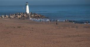 Walton Lighthouse em Santa Cruz California Fotos de Stock Royalty Free