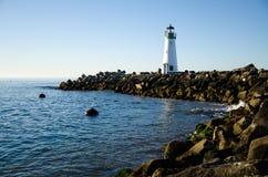 Walton lighthouse in Santa Cruz. California, USA, lighthouse in Santa Cruz harbor in the early morning Royalty Free Stock Photo