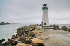 Walton Lighthouse Santa Cruz, Kalifornien Royaltyfri Bild