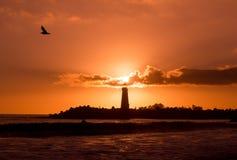 Walton Lighthouse Sunset Stock Image