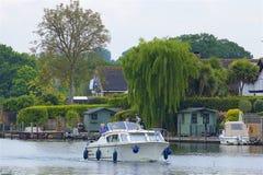 Walton-on Thames, England. Life on the Thames river, England royalty free stock photography
