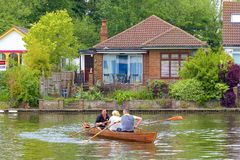 Walton-on Thames, England. Life on the Thames river, England royalty free stock photos