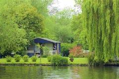 Walton-on Thames, England. Life on the Thames river, England stock photo
