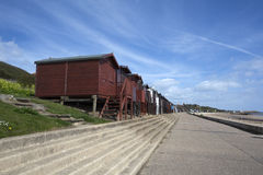 Walton在这Naze海滨人行道,艾塞克斯,英国 免版税库存图片