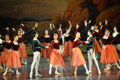 The waltz dance-ballet Swan Lake Royalty Free Stock Photos