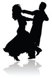 Waltz Dance Couple Silhouette Royalty Free Stock Image