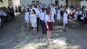 Waltz dance school graduates stock footage