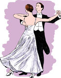 Waltzing couple Royalty Free Stock Photos
