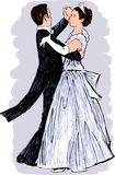 Waltzing pair Stock Photo