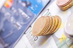 20 50 100 500 walut europejskich euro Zdjęcie Stock