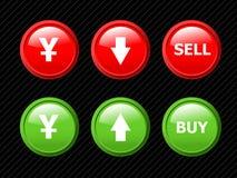 walut ikony ustawiają jen ilustracji