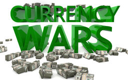 Walut wojny - wymian walut tempa Zdjęcie Royalty Free