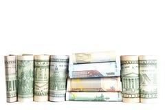 , waluta, biały tło Obraz Royalty Free