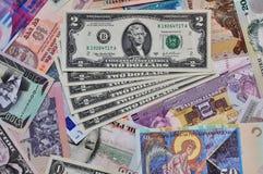 waluta cudzoziemska Zdjęcia Royalty Free