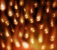 waluta deszcz Obrazy Stock