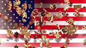 Waluta - dolar - flaga zbiory
