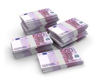 Waluta euro banknoty 3D Zdjęcia Royalty Free