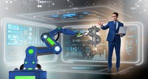 Waluta handlowiec używa nowożytne technologie ilustracji