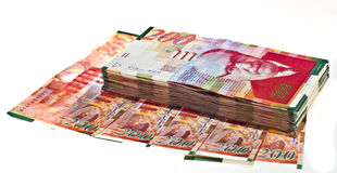 waluta izraelita Obrazy Stock