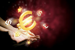 Waluta rozjarzeni symbole Obraz Stock