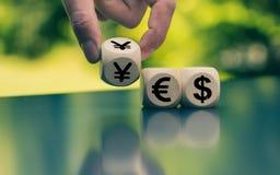 Waluta symbole tworzą słowo «tak obrazy royalty free