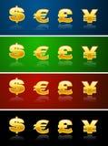 waluta znaków Zdjęcia Stock