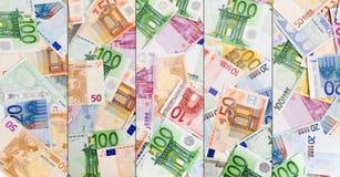 Waluty abstrakcjonistyczny europejski tło Obrazy Royalty Free