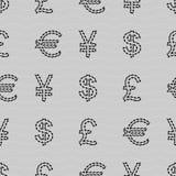 Waluty bezszwowy deseniowy tło Zdjęcie Royalty Free
