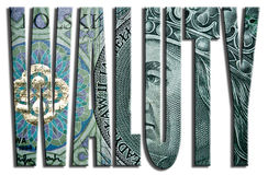 Waluty - currencies. 100 PLN or Polish Zloty texture. Stock Photography