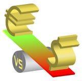 waluty dolarowa euro rynek walutowy ilustracja zobaczyć widzieć Zdjęcia Stock