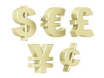 Waluty - platyna Obrazy Royalty Free