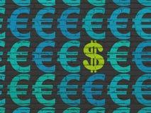 Waluty pojęcie: dolarowa ikona na ściennym tle Zdjęcie Royalty Free